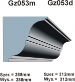 Gzymsy Gz 053m  i   Gz 053d